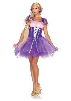 Rapunzel. Probably won't have a dress that short but if I could make the bottom a tutu all I would have to get is a top to go with it.