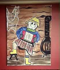 Image result for mummers painting Christmas Front Doors, Doodle Drawings, Newfoundland, Rug Hooking, Xmas Gifts, Painted Rocks, Quilt Patterns, Quilting, Doodles