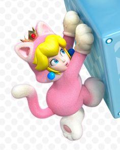 pink, earrings, heart // Super Mario 3D World