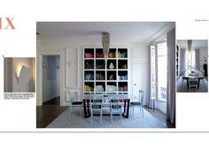 bookcase + chandelier in design by Danielle Miller via Richard Powers