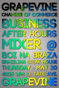 Business After Hours Mixer at Boi Na Braza Brazilian Steak House in #GrapevineTX - May 30