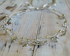 Flower crown Rustic hair crown Bridal headpiece Boho by LumilinA