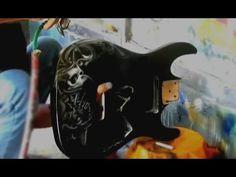 Belandry Elan His 7 String Guitar Painted like Tremonti by Yande
