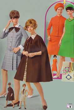 Retro fashion pictures from the and 70s Women Fashion, Teen Fashion, Retro Fashion, Vintage Fashion, Fashion Outfits, Retro Mode, Vintage Mode, Vintage Ladies, Fashion Details