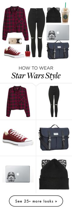 """Sunday"" by fairymanny on Polyvore featuring Topshop, H&M, Converse, OPI, Silver Spoon Attire and Casetify"