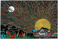 Glastonbury 2017 artwork, Hold Your Cool by Stanley Donwood