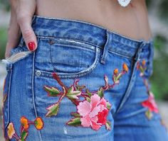Jazz up your vintage denim with this embroidery DIY