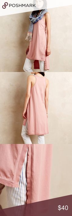"""Anthropologie ( Left of Center ) High- Low Tunic Cotton 