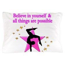 GYMNAST FAITH Pillow Case Inspiring Gymnastics bedroom décor.  #Gymnastics #Gymnast #WomensGymnastics #Personalizedgymnast #Ilovegymnastics #Gymnastics décor