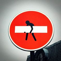 I saw this in Paris by Sacre Coeur! hijacked road signs-Clet Abraham #streetart