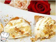 ΤΡΙΓΩΝΑ ΠΑΝΟΡΑΜΑΤΟΣ!!! - Νόστιμες συνταγές της Γωγώς! Kai, The Kitchen Food Network, Greek Recipes, Cinnamon Rolls, Food Network Recipes, Food Art, Camembert Cheese, Peanut Butter, Ice Cream
