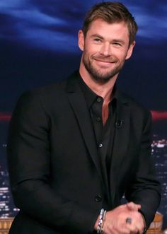 Chris Hemsworth on The Tonight Show with Jimmy Fallon.