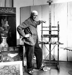 Georges Braque in his studio 1963