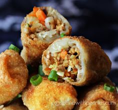 How to make Crispy Homemade Egg Rolls! This egg roll recipe is easy and delicious filled with pork & veggies! This appetizer can be oven baked or fried.