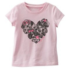 Oshkosh Baby Girls Graphic Tee  Cute Puppies My Friends  Pink 12 Months -- Visit the image link more details.