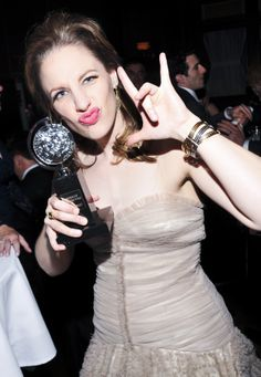 Jessie Mueller and her Tony Award