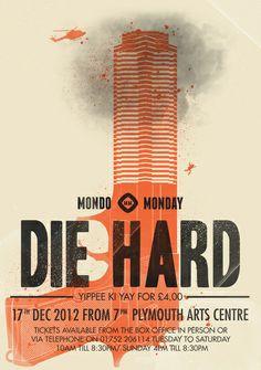 Die Hard (Full poster variant) Art Print by Wharton Minimal Movie Posters, Minimal Poster, Film Posters, Music Posters, Movie Prints, Poster Prints, Art Prints, Minimalist Poster Design, Typo Poster