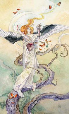 SciFi and Fantasy Art Tarot - Justice by Stephanie Pui-Mun Law Arte Sci Fi, Sci Fi Art, Fantasy Kunst, Fantasy Art, Art Libra, Sci Fi Kunst, Justice Tarot, Art Science Fiction, Tarot Significado