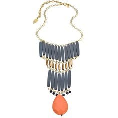 David Aubrey Gold Jade and Multi Stone Amelie Statement Bib Necklace ($105) ❤ liked on Polyvore featuring jewelry, necklaces, accessories, bead chain necklace, beaded statement necklace, bib necklace, gold necklace and beaded necklaces