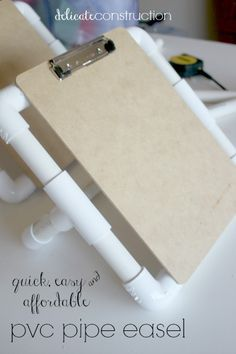 Easy PVC Pipe Kid's Easel - Delicate Construction