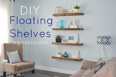 Floating wall shelves diy