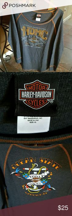 Harley Davidson Long Sleeve Top Brand new but no tags. Received as a gift but it doesn't fit me.  It is from Warwick, Rhode Island....Ocean State Harley. Harley-Davidson Tops Tees - Long Sleeve