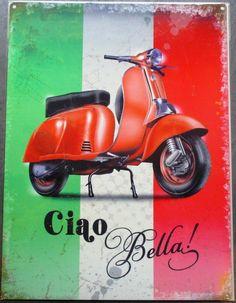 Red Vespa, Vespa Ape, Scooters Vespa, Lambretta Scooter, Vespa Rouge, Pin Up, Vespa Girl, Man Cave Garage, Bugatti