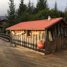 """ALASKA, USA: the Finnish sauna at Tutka Bay Wilderness Lodge: """"The day concluded with a helicopter ride to a nearby peak to take in the views. On the descent, we saw three black bears, scouring the tundra for dinner.   There are a few places on earth that have such extraordinary Feng Shui and this is certainly one of them. My well-traveled friend Kurt Kutay, founder of Wildland Adventures, was also there and referred to Tutka Bay as """"sacred."""" It's not a word that I commonly use but here…"""