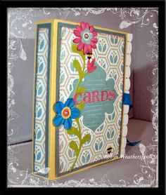 Robyn Weatherspoon - greeting card holder Greeting Card Holder, Greeting Card Organizer, Greeting Cards, Book Projects, Project Ideas, Craft Projects, Scrapbook Box, Photo Book, Celebration