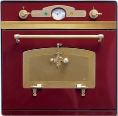 Custom antique style oven by Restart Sri. Love the brass handles & face plate! Lots more at the link.