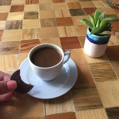 Turk kahvesiyle cikolata🍫&☕️  Turkish coffee with chocolate