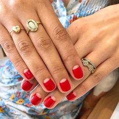 Best Nail Polish Colors of 2020 for a Trendy Manicure Minimalist Nails, Minimalist Chic, Moon Nails, Half Moon Manicure, Nagellack Trends, Manicure Y Pedicure, Red Manicure, Pedicure Ideas, Mani Pedi