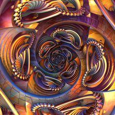 Untitled 3d fractal art Mandelbulb 3d Paul Griffitts http://www.frackxion.com