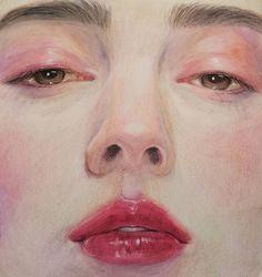 Colored Pencil Artwork, Color Pencil Art, Kawaii Drawings, Art Drawings, Oil Pastel Colours, Watercolor Art Face, Painting People, Digital Art Girl, Anime Art Girl