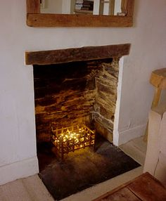 pretty fireplace idea