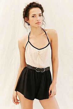 14df6bfab22 Silence + Noise Strappy Front-V Romper