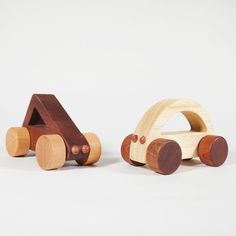 Gorgeous wooden cars babies can drive. And chew. - Cool Mom Picks