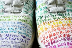 omigawd shoes by jaevelrdii on DeviantArt Sharpie Projects, Sharpie Crafts, Sharpie Art, Sharpies, Diy Projects, Sharpie Shoes, White Sharpie, White Tennis Shoes, Do It Yourself Fashion