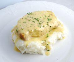 crock pot ranch pork chops (minus the mashed potatoes!)