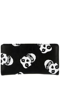 Iron Fist X Misfits FIEND WALLET Black & White with Graphic Skull Screen Art #ironfist #misfits