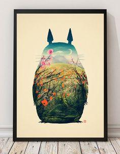 Poster « Tonari na Totoro – Mon voisin Totoro »