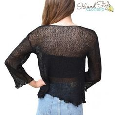 Black Sheer Shrug Ca