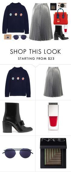 """""""PBOY"""" by mariimontero ❤ liked on Polyvore featuring Shrimps, Miss Selfridge, Marni, Givenchy, Mykita, NARS Cosmetics, Urban Outfitters and L'Occitane"""