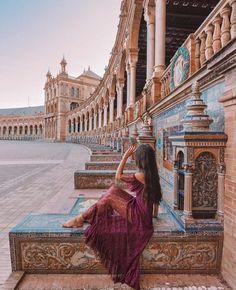 Plaza de Espana, Seville, Spain, Park, Architecture, Travel, Tourist Attraction, Sightseeing Spots, Superb Views