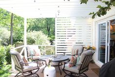 Patio Privacy Makeover with Pergola