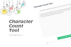 Free Characters, Wordpress Plugins, Blogger Themes, Counting, Ads, Tools, Instruments