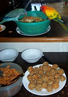 Sweet Potato Puffs... - Quaker Parrot Forum ~~~~~~ A tasty favorite of Sir Charles! ♥