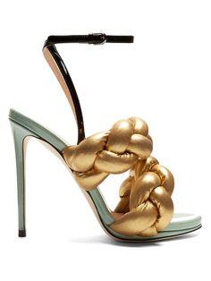 MARCO DE VINCENZO Plaited leather sandals. #marcodevincenzo #shoes #sandals
