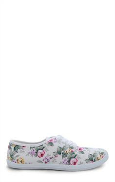 Deb Shops #Floral Print Low Top #Sneaker $9.03