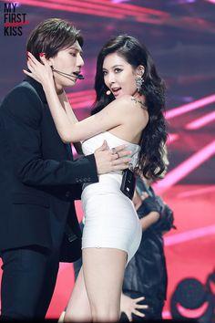 Hyuna And Hyunseung Kiss Real